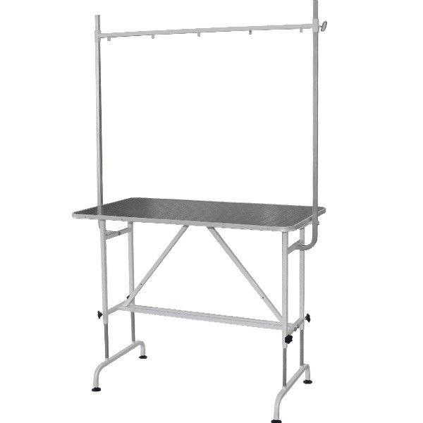 Стол для груминга животных стационарный с кронштейном Groomer - TB4