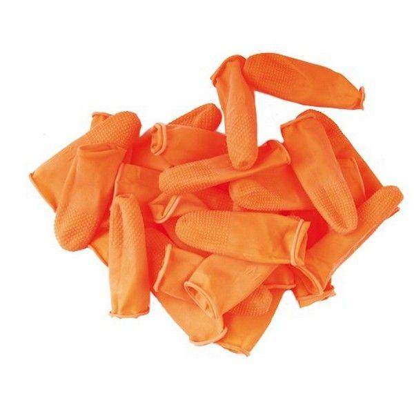 Латексный напальчник для тримминга собак Show Tech оранжевые размер M