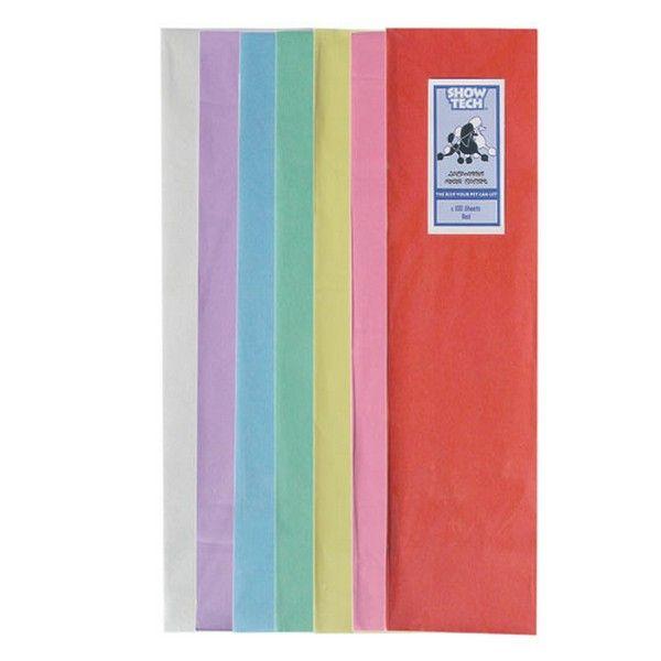 Красная рисовая бумага для папильоток Show Tech 100 шт.