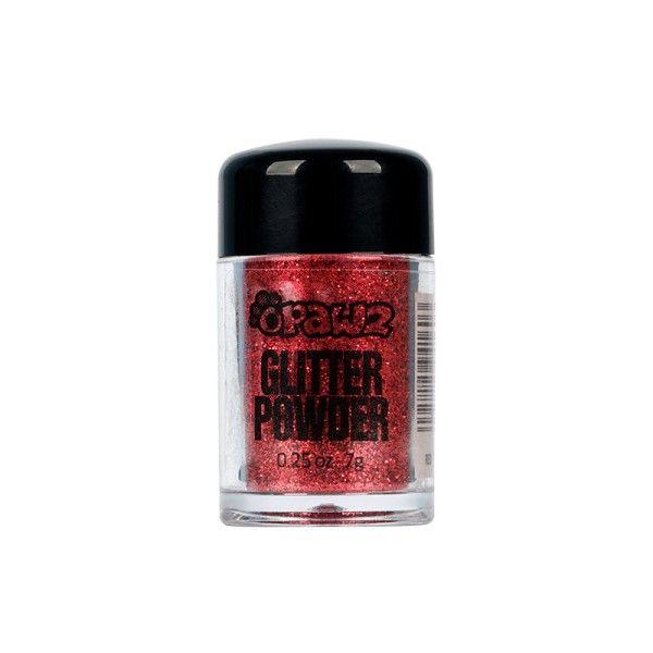 Порошок-блестки Opawz Glitter Powder Red  8 мл
