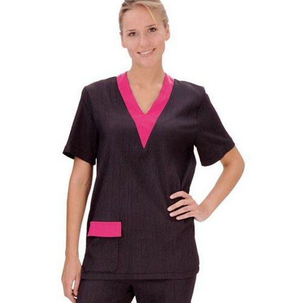 Блуза грумера Artero черная с розовым, размер M