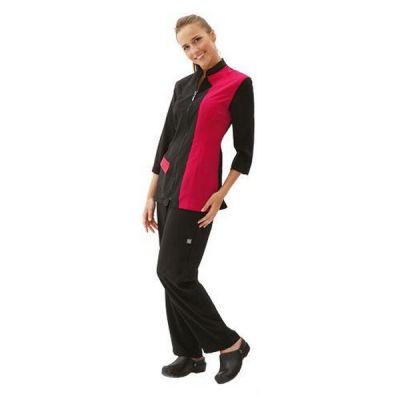 Грумерская рубашка Artero черная с розовым, размер L