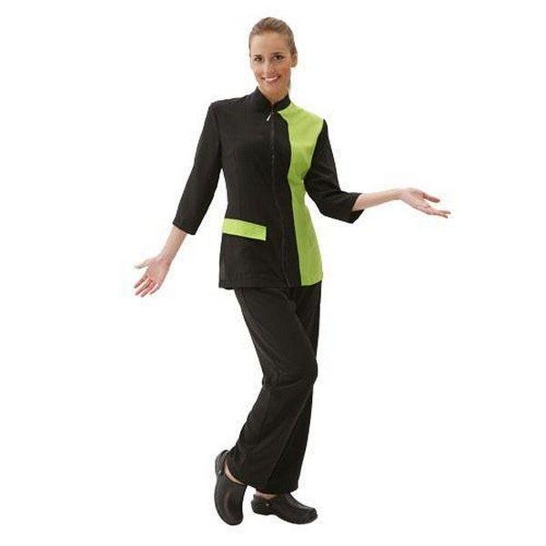 Грумерская рубашка Artero черная с зеленым, размер XL