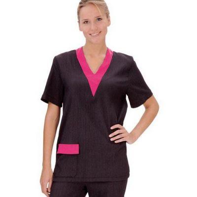 Блуза грумера Artero черная с розовым, размер L