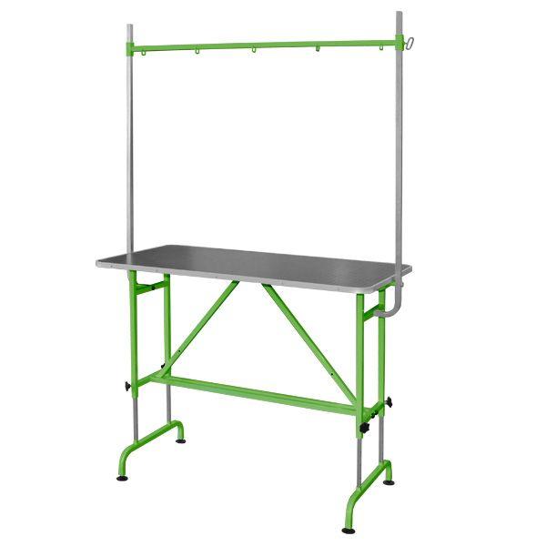 Стол для груминга животных стационарный с кронштейном Groomer - TB4 зеленый
