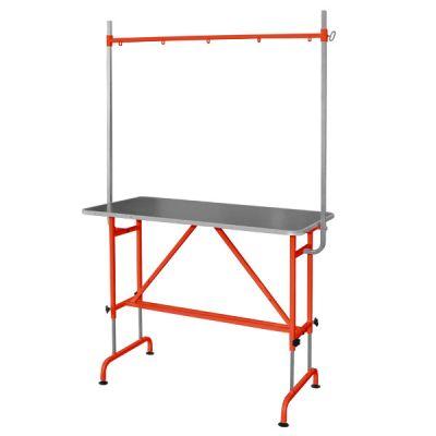 Стол для груминга животных стационарный с кронштейном Groomer - TB4 оранжевый