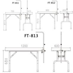 Стол для груминга Shernbao FT-812 облегченный артикул FT-812 фото, цена gr_19290-09, фото 9
