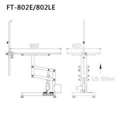 Стол для груминга Shernbao FT-802LE на электроподьемнике артикул FT-802LE фото, цена gr_19299-03, фото 3
