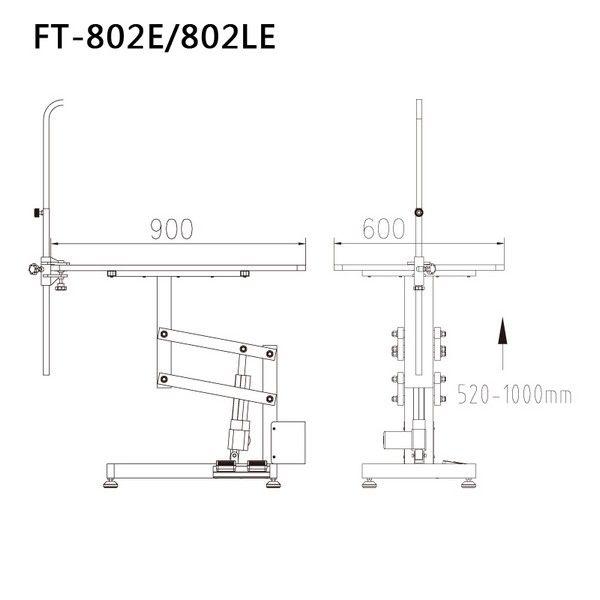 Стол для груминга животных на электро подъемнике Shernbao FT-802LE