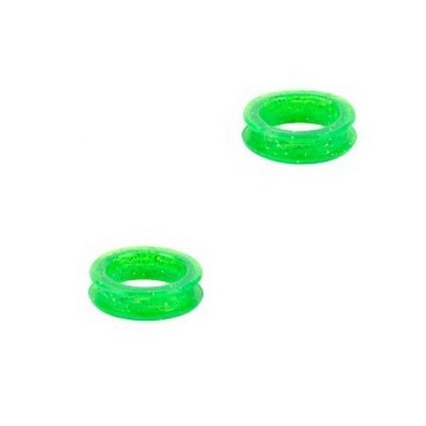 Зеленые кольца для ножниц Show Tech силикон, d-21 мм. 2 шт.