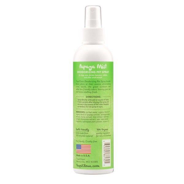 Спрей-парфюм Tropiclean Papaya Mist для увлажнения с антистатиком 236 мл.