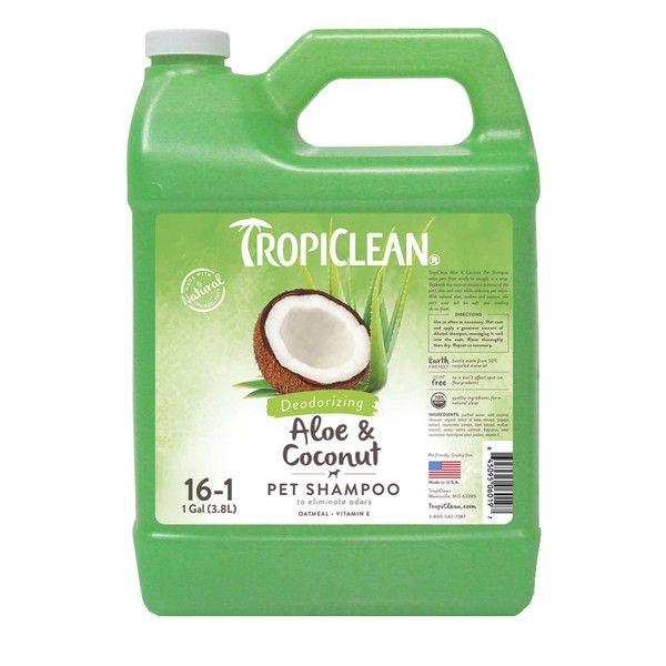 Дезодорирующий шампунь Tropiclean Aloe and Coconut 1:16 3,78 л.
