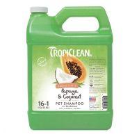 Tropiclean артикул: TP060135SHCD Шампунь-кондиционер 2 в 1 Tropiclean Papaya and Coconut 1:16; 3,78 л.