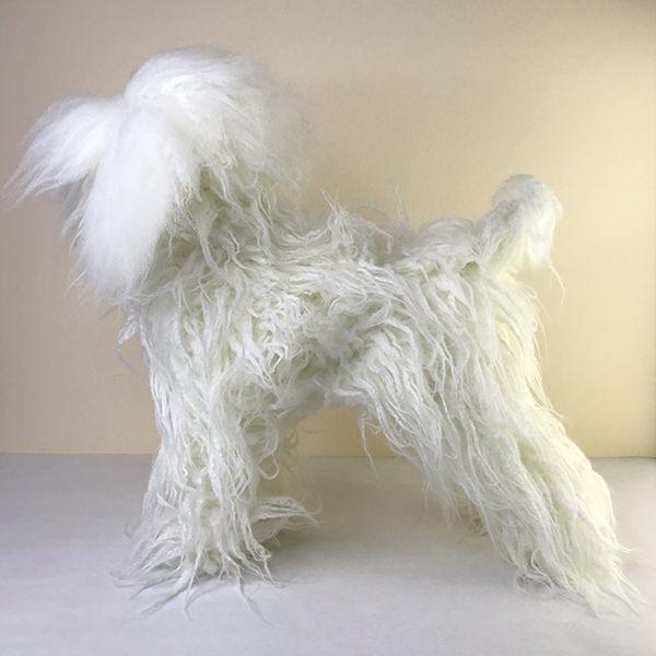 Парик для тела манекена MD01 - белый Той-пудель