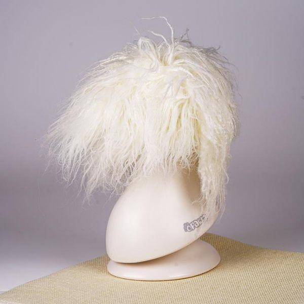 Парик для головы манекена MD01 - белый Той-пудель