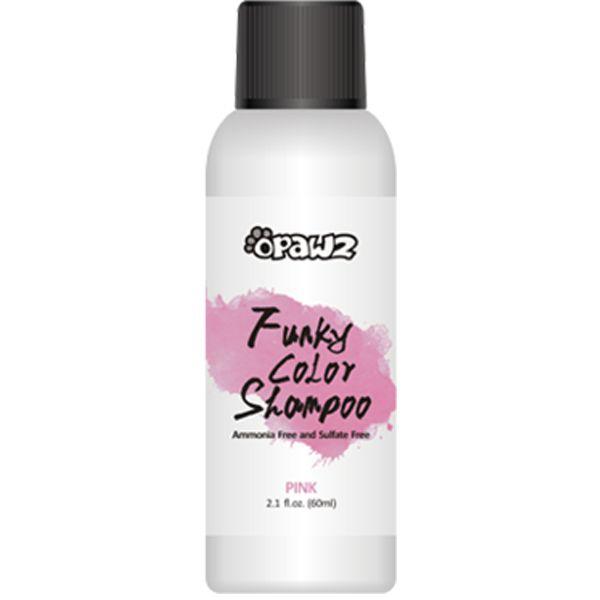 Розовый оттеночный шампунь для животных Opawz Funky Color Pink 60 мл.