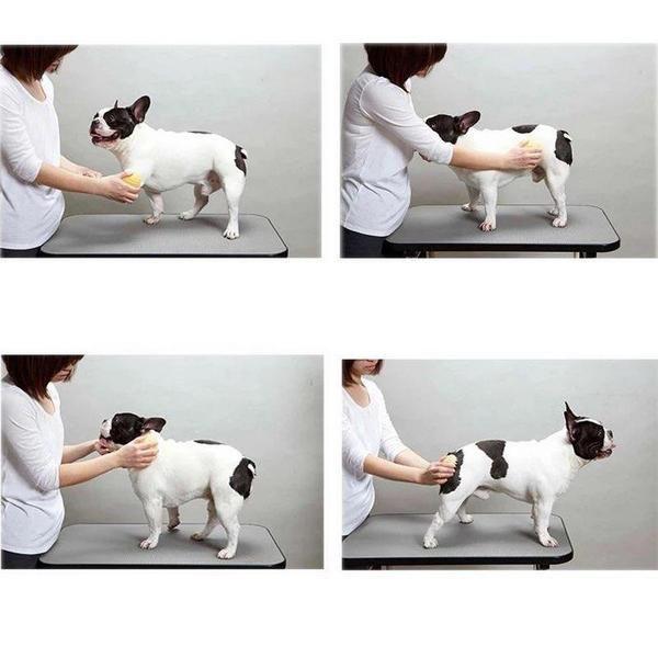 Силиконовая щетка для короткой шерсти Doggy Man Honey Smile размер 10х6,5 см.