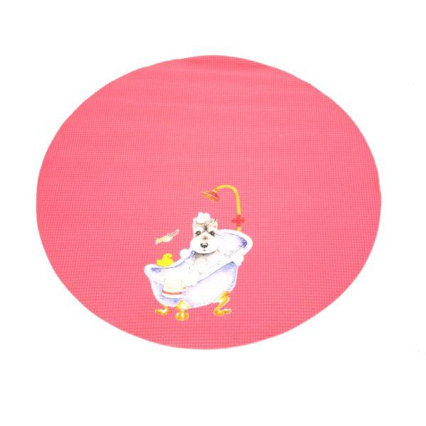 Круглый коврик для грумерского стола Shernbao FT-831 диаметр 60 см.