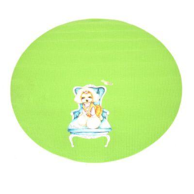 Круглый зеленый коврик для грумерского стола Shernbao FT-831 диаметр 60 см.