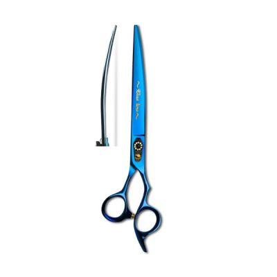Изогнутые ножницы для стрижки собак Barracuda Blue Line 7.0