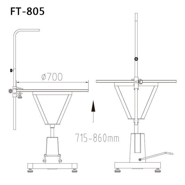Круглый стол для стрижки животных Shernbao FT-805 Pink